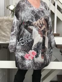 ITALIA MODE oversized jersey  viscose tuniek/jurk