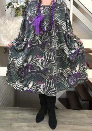 Carmen oversized jersey A-lijn jurk/tuniek met zakken apart (extra groot)