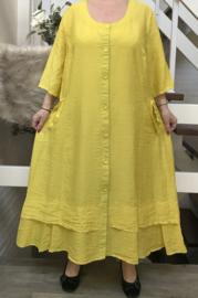 SINNE design.. A- lijn viscose jurk/hemd