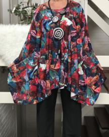 Samantha oversized A-lijn travel stof  tuniek apart (extra groot) stretch)/in meerdere kleuren