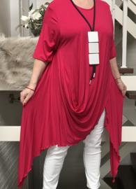 Naveed jersey asymmetrisch tuniek apart/in meerdere kleuren