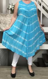Nadia  viscose geverfde asymmetrisch A-lijn jurk