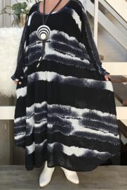 Vanessa oversized  A-lijn jersey jurk met zakken apart (extra groot)
