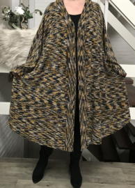Yara oversized A-lijn jersey blazer/vest  (extra groot)  apart stretch