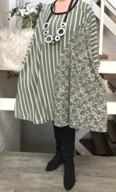 Nadine oversized jersey A-lijn jurk/tuniek met zakken apart (extra groot)