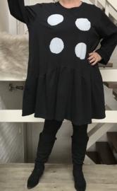 ITALIA MODE katoen  A-lijn jurk zwart