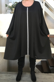 Valeria oversized A-lijn jersey jurk apart (extra groot)
