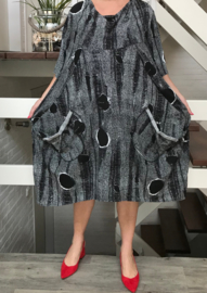 Naveed jersey A-lijn  jurk grijs ( extra groot)