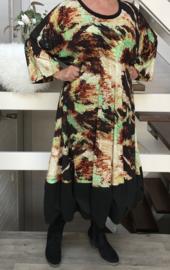 Dina oversized A-lijn jurk apart (extra groot)