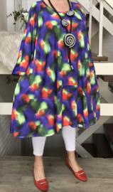 Lucy oversized A-lijn jersey tuniek/jurk met zakken apart (extra groot)