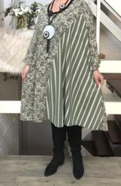 Ninka oversized jersey A-lijn jurk/tuniek met zakken apart (extra groot)