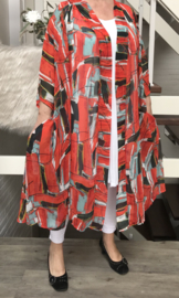 Anette oversized A-lijn blazer/jas  (extra groot)  apart
