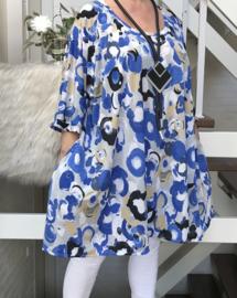 Lida oversized A-lijn jersey tuniek/jurk met zakken apart (extra groot)