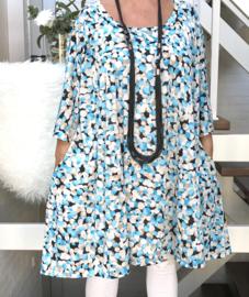 Edith oversized A-lijn jersey tuniek/jurk met zakken apart (extra groot)