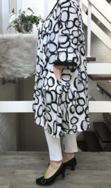 Suzanne oversized A-lijn jurk met zakken apart (extra groot) stretch zwart