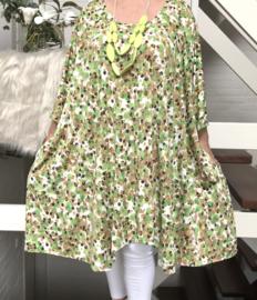 Flora oversized A-lijn jersey tuniek/jurk met zakken apart (extra groot)