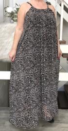 Belinda oversized A-lijn zomer chiffon jurk met zakken  (extra groot)