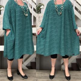 Molly1  oversized viscose jersey A-lijn tuniek/jurk met zakken apart(extra groot)stretch