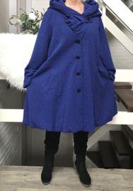 New Jersey  A-lijn jas/mantel met capuchon /gevoerd