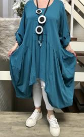 ITALIA MODE katoen asymmetrisch A-lijn jurk/ stretch
