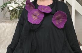 Maxima HM wollen ketting met bloemen 00106