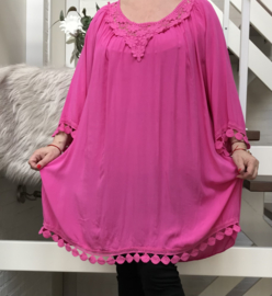 ITALIA oversized viscose blouse/tuniek/in meerdere kleuren