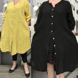 Moonshine linnen  A-lijn jurk/hemd apart/in meerdere kleuren