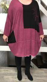 QXXEM design de modieuze kleuring oversized jersey jurk (extra groot)/in meerdere kleuren