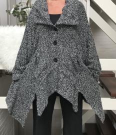 New Jersey oversized blazer/jas apart ( extra groot) grijs