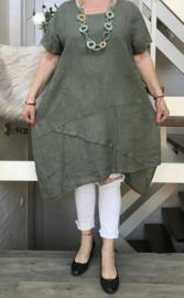 ITALIA  linnen A-lijn tuniek/jurk/in meerdere kleuren