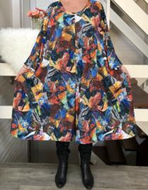 Joleen oversized A-lijn travelstof  jurk apart (extra groot) stretch