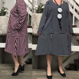 La Bass katoen A-lijn jurk/tuniek stretch /in meerdere kleuren