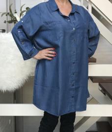 ITALIA tencel jeans jurk/hemd