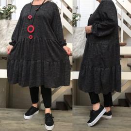 ITALIA viscose jersey A-lijn jurk stretch