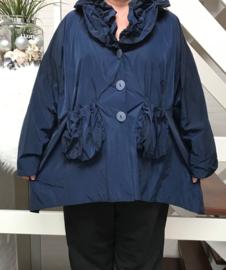 Vincenzo Allocca oversized waterdicht korte jas apart ( extra groot)