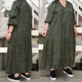 LEN'S Couture zijde/viscose   A-lijn jurk apart/in meerdere kleuren