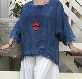 Zedd Plus jeans A-lijn top met ketting/in meerdere kleuren