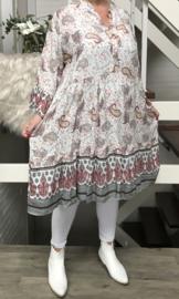 ITALIA viscose jersey  A-lijn tuniek/jurk