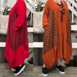 Moonshine katoen jersey A-lijn jurk apart/ in meerdere kleuren