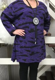 RAFAY oversized katoen tuniek (extra groot)/in meerdere kleuren