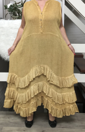 Moonshine linnen jurk zonder mouwen (extra groot