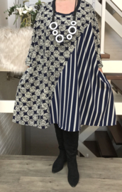 Sofie oversized jersey A-lijn jurk/tuniek met zakken apart (extra groot)