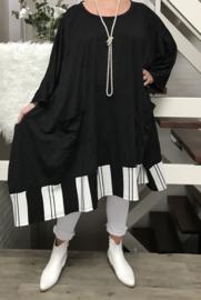 Mabella oversized A-lijn jersey jurk/tuniek  apart (extra groot)