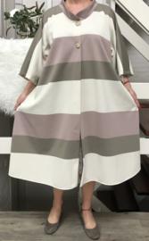 Audrey oversized A-lijn jersey blazer/jas  (extra groot)  apart