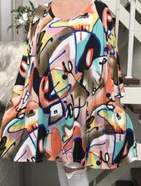 Hannah oversized A-lijn jersey tuniek/jurk met zakken apart (extra groot)
