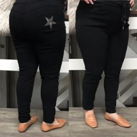 ITALIA broek met veel stretch zwart