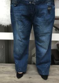 ITALIA stretch jeansbroek blauw  (extra groot)