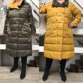 ITALIA dubbelzijdig gewatteerde winter jas/mantel