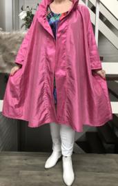 Dorotea oversized A-lijn Taft blazer/vest met zakken  (extra groot)  apart