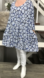 Zita oversized  A-lijn jurk/tuniek met zakken apart   (extra groot)
